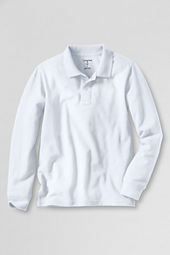 Boys' Long Sleeve Solid Vintage Polo Shirt
