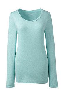 Women's Long Sleeve Cotton/Modal Scoop Neck Tee