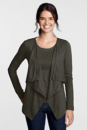 Women's Long Sleeve Blissful Knits Cascade Drape Cardigan