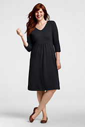 Women's Plus Size 3/4-sleeve Knit Dress