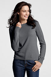 Women's Long Sleeve Cashmere Sweater Tee