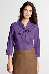 Women's 3/4-sleeve Tie Stretch Shirt