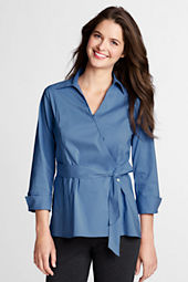 Women's 3/4-sleeve Wrap Stretch Shirt