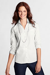 Women's Long Sleeve Splitneck Textured Shirt