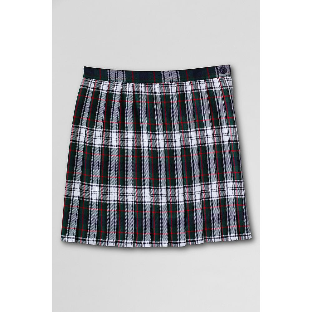 Lands' End Girls' Pleated Plaid Skirt (Top of the Knee)