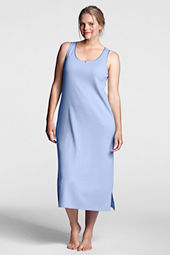 Women's Plus Size Sleeveless Midcalf Sleep-T