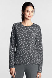 Women's Print Knit Crewneck Sleep Top