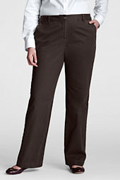 Women's Plus Size Straight Leg Chino Pants