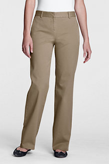 Women's Mid Rise Straight Leg Stretch Chinos