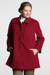 Women's Plus Size Luxe Wool Swing Coat