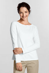 Women's Long Sleeve Interlock Boatneck Shirt