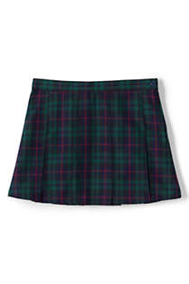 Girls Plaid Box Pleat Skirt Above Knee, Front