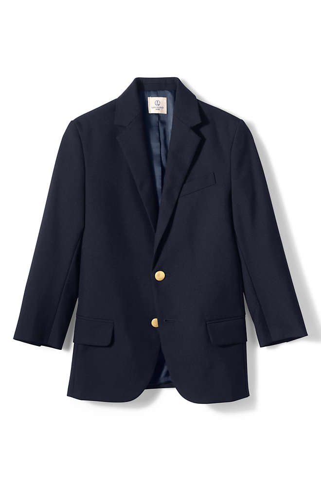 School Uniform Boys Hopsack Blazer, Front