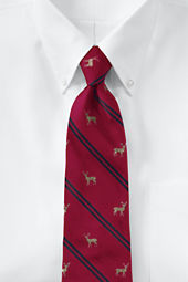 Men's Double Stripe Deer Necktie