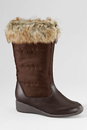 Girls' Tristen Faux Fur Wedge Boots