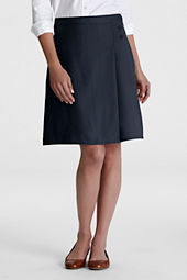 Juniors' Solid A-line Skirt