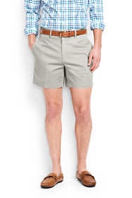 "Men's 6"" Plain Front No Iron Chino Shorts"