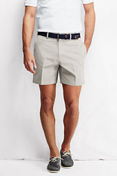 "Men's 6"" Plain Front Traditional  No Iron Chino Shorts"