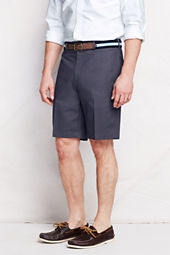 "Men's 9"" Plain Front Traditional No Iron Chino Shorts"