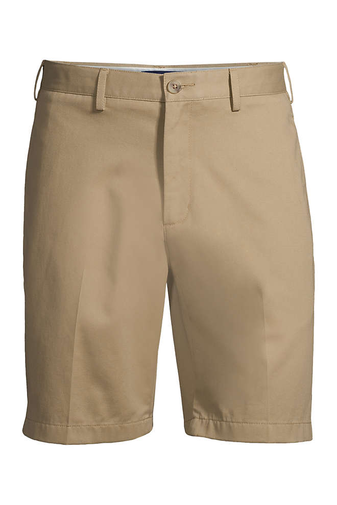 "Men's Traditional Fit 9"" No Iron Chino Shorts, Front"