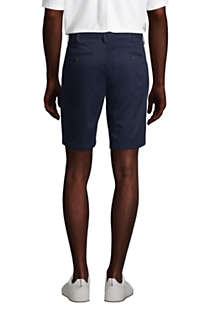 "Men's Traditional Fit 9"" No Iron Chino Shorts, Back"