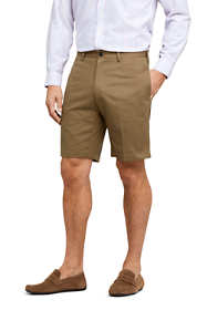 "Men's 9"" Plain Front No Iron Chino Shorts"