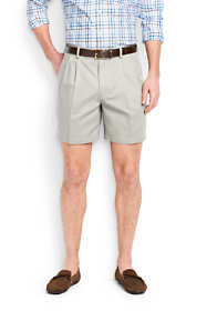 "Men's 6"" Pleat Front No Iron Chino Shorts"