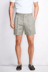 "Men's 6"" Pleat Front Traditional No Iron Chino Shorts"