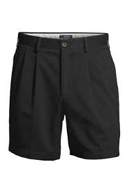 "Men's Traditional Fit Pleated 6"" No Iron Chino Shorts"