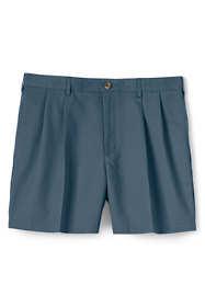 "Men's 6"" Pleat Front No Iron Chino Shorts"