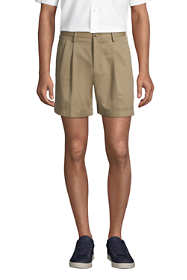 """Men's Traditional Fit Pleated 6"""" No Iron Chino Shorts"""