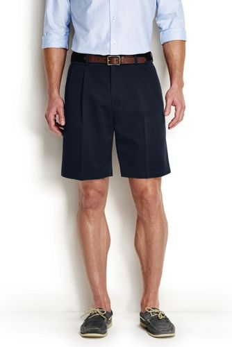 Mens Cargo Chino Shorts - 34 - Green Lands End