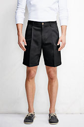 "Men's 9"" Pleat Front Traditional No Iron Chino Shorts"