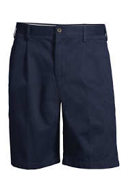 "Men's Traditional Fit Pleated 9"" No Iron Chino Shorts"