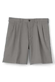 "Men's 9"" Pleat Front No Iron Chino Shorts"