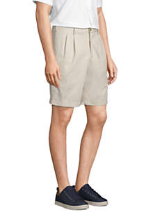 "Men's Traditional Fit Pleated 9"" No Iron Chino Shorts, Unknown"