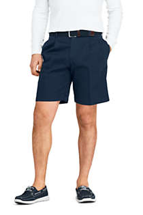 "Men's Traditional Fit Pleated 9"" No Iron Chino Shorts, Front"