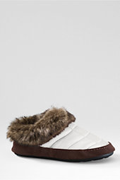 Girls' Quilted Faux fur slippers