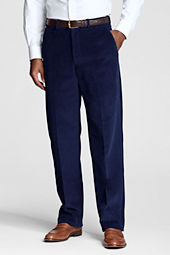 Men's Plain Front Traditional Wide Wale Cord Pants