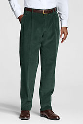 Men's Pleat Front Traditional Wide Wale Cord Pants