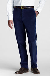 Men's Plain Front Tailored Wide Wale Cord Trousers