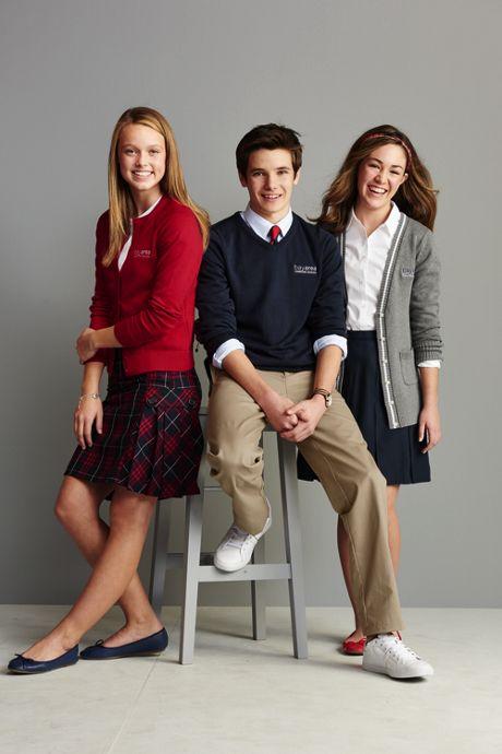 Juniors Solid Box Pleat Skirt Top of Knee