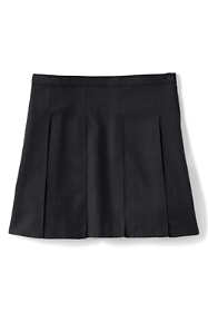 School Uniform Girls Solid Box Pleat Skirt Top of Knee