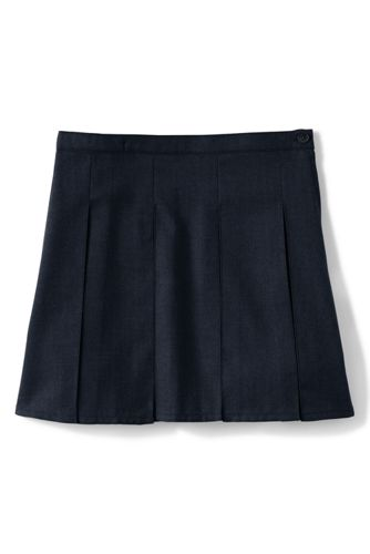 Girls Solid Box Pleat Skirt Top Of Knee by Lands' End