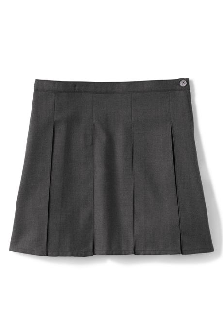 Little Girls Solid Box Pleat Skirt Top of Knee