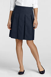 Women's At-the-knee Box Pleat Skirt