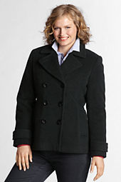 Women's Luxe Wool Insulated Pea Coat