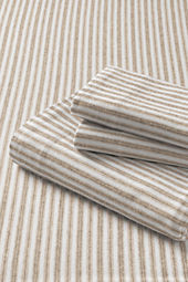 5-oz Flannel Yarn Dye Striped Sheet Set or Pillowcase