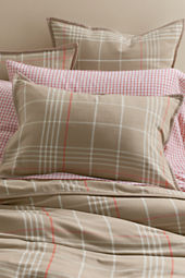 6-oz Flannel Plaid Duvet Cover