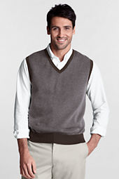 Men's Fine Gauge Cotton Herringbone Vest